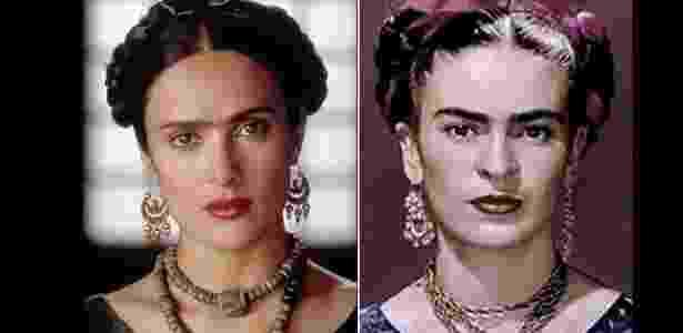 Salma Hayek como a pintora mexicana Frida Kahlo, para o filme Frida (2002) - Vírgula/Reprodução - Vírgula/Reprodução