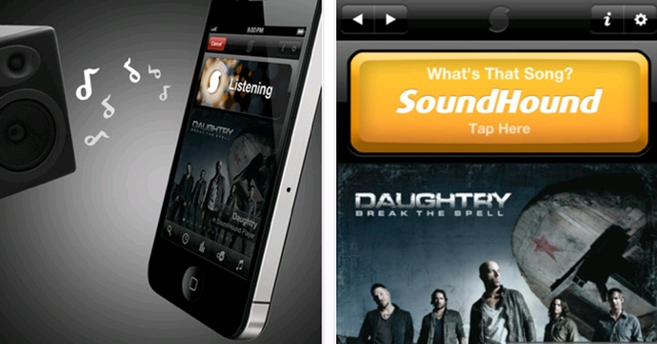 SoundHound: aplicativo gratuito para smartphones ?ouve? a canção e identifica o nome e o intérprete