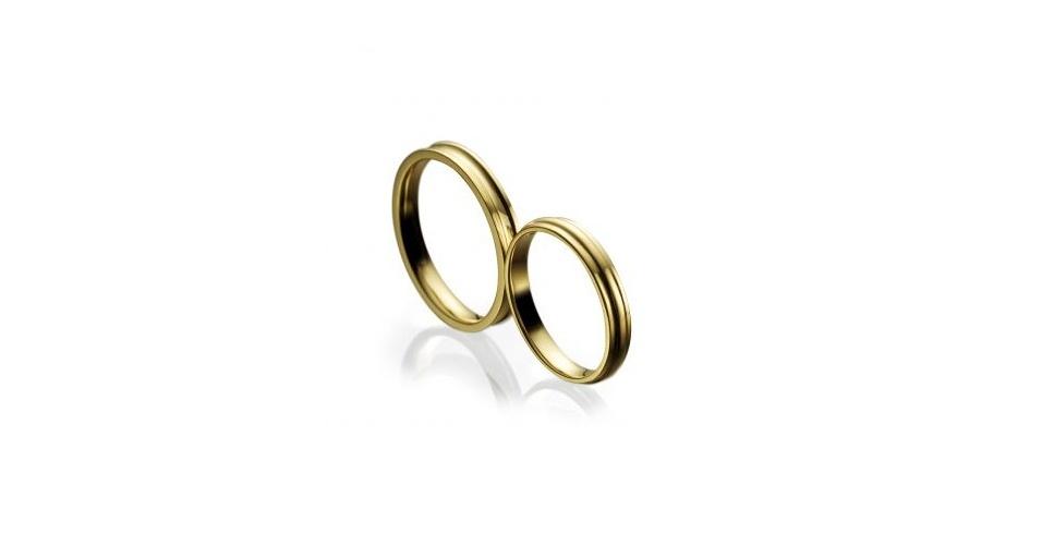Alianças Attraction em ouro amarelo, na Vivara (SAC: 0800 7744999)