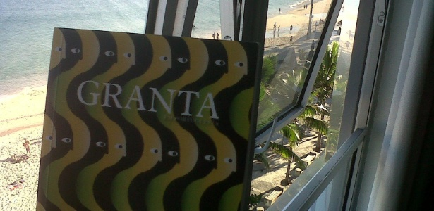 Capa da edição nacional da revista Granta, que contará com textos dos 20 autores brasileiros - Reprodução/Facebook