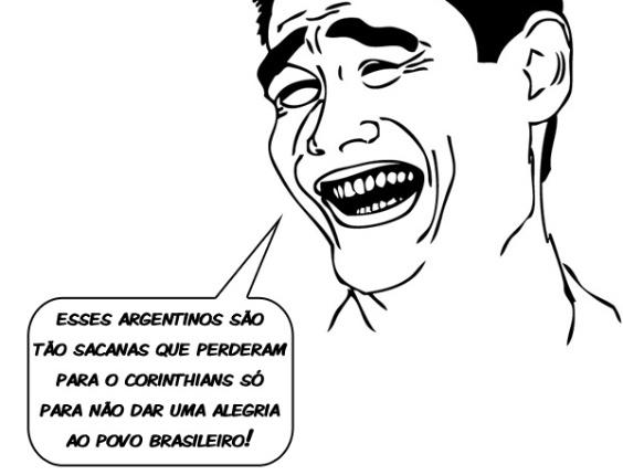 Corneta FC: Argentinos só perderam para o Corinthians para não dar alegria ao povo brasileiro