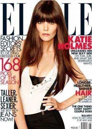"""Katie Holmes está na capa da revista """"Elle"""" norte-americana de agosto de 2012 - Divulgação"""