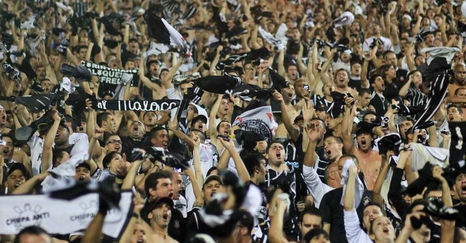 Multidão durante final da Libertadores nesta quarta-feira no Pacaembu