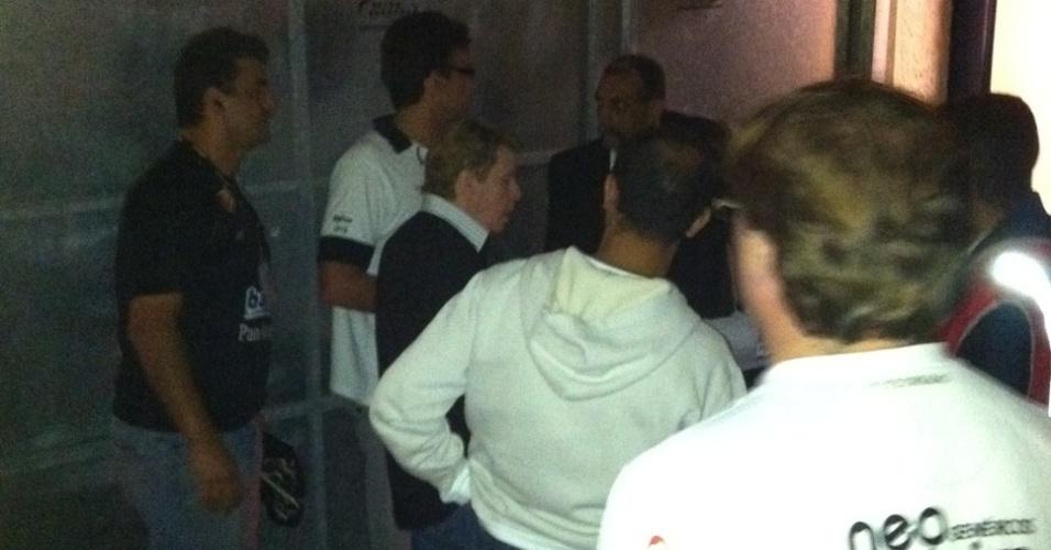 Nelson Rubens esteve no Pacaembu para acompanhar a final da Libertadores