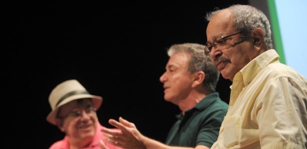 O autor Walcyr Carrasco, o jornalista Edney Silvestre e o escritor João Ubaldo Ribeiro falam sobre os 100 anos de Jorge Amado na Flip (5/7/12) - Flavio Moraes/Fotoarena