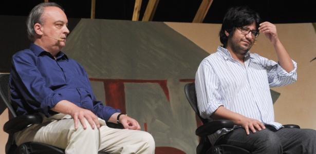 Enrique Vila-Matas e Alejandro Zambra durante Flip 2012 em Paraty (5/7/12) - Flavio Moraes/Fotoarena