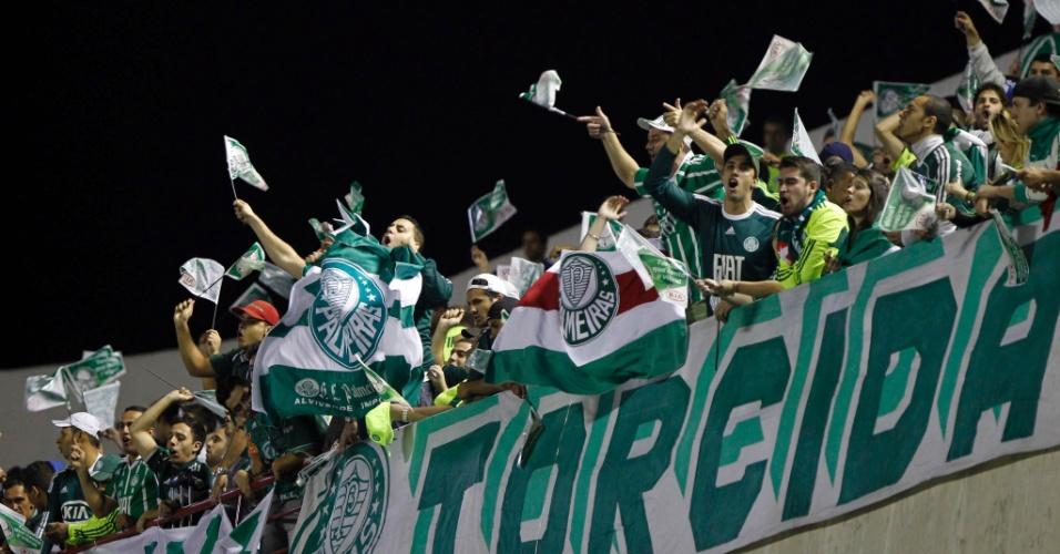 Torcida do Palmeiras lotou a Arena Barueri para acompanhar o primeiro jogo da final da Copa do Brasil