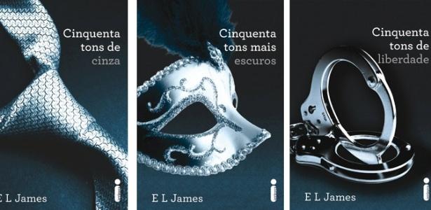 """Capas da trilogia """"50 Tons de Cinza"""", da inglesa E.L. James, que será publicada no Brasil pela editora Intrínseca - Divulgação"""