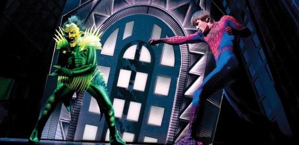 """Cena da peça """"Spider-Man: Turn Off the Dark"""", da Broadway - Reprodução/The Hollywood Reporter"""