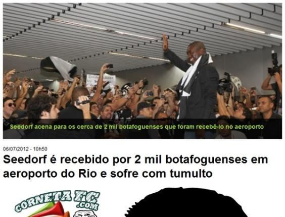 Corneta FC: Seedorf é recebido por toda a torcida do Botafogo no aeroporto