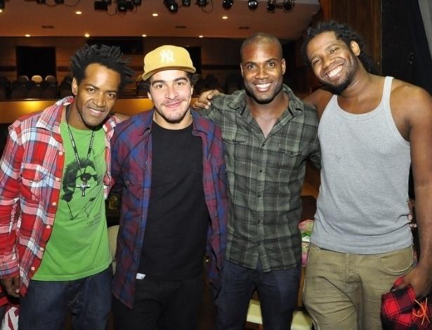 Da esquerda para a direita, Dhum Neves,Thiago Martins,Rafael Zulu e Jhama (5/7/2012)