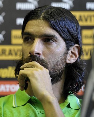 Loco Abreu se despede do Botafogo em entrevista coletiva (06/07/2012)