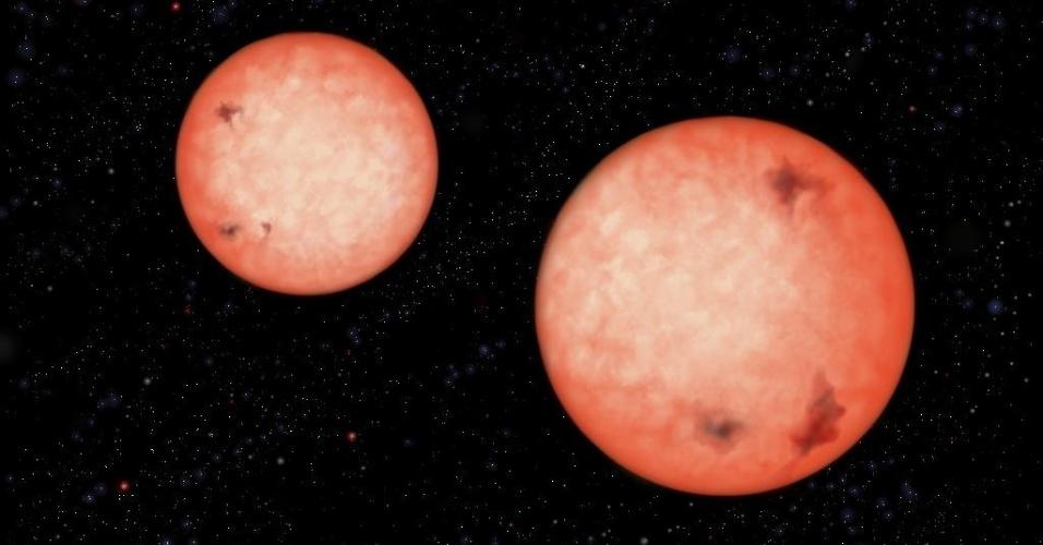 Telescópio descobre estrelas binárias que orbitam uma a outra em 2,5 horas