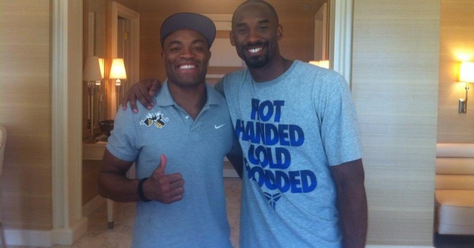Anderson Silva e Kobe Bryant