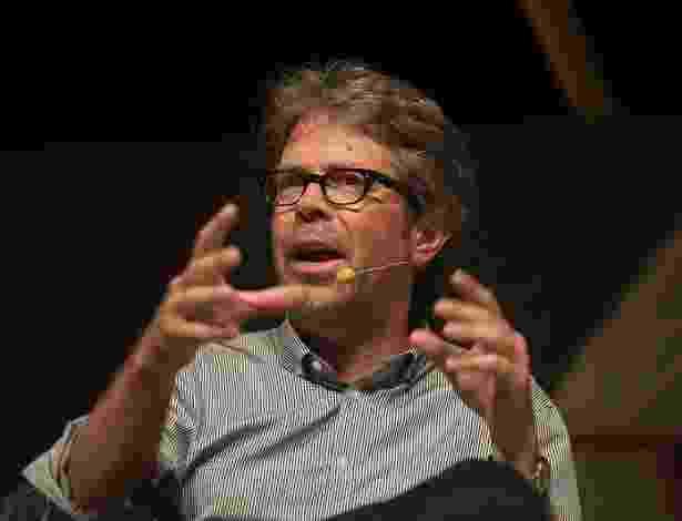 Jonathan Franzen durante a Flip 2012 em Paraty, no Rio de Janeiro (6/7/2012) - Walter Craveiro/Divulgação