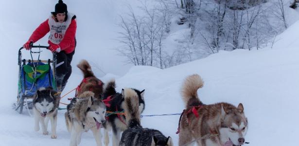 Julio César Filho foi campeão do sul-americano de sled dog em Ushaia, na Argentina