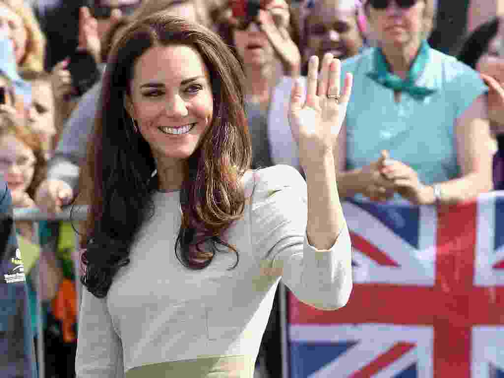 Kate Middleton em traje esporte fino - Getty Images