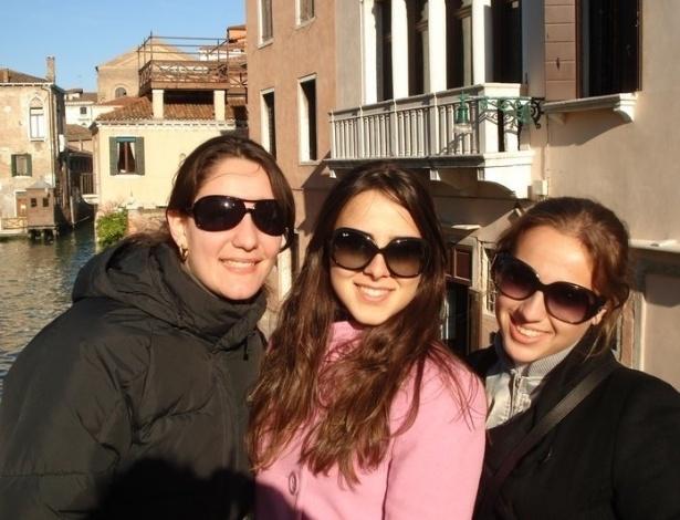 Yana Fortuna e amigas em Veneza, na Itália.