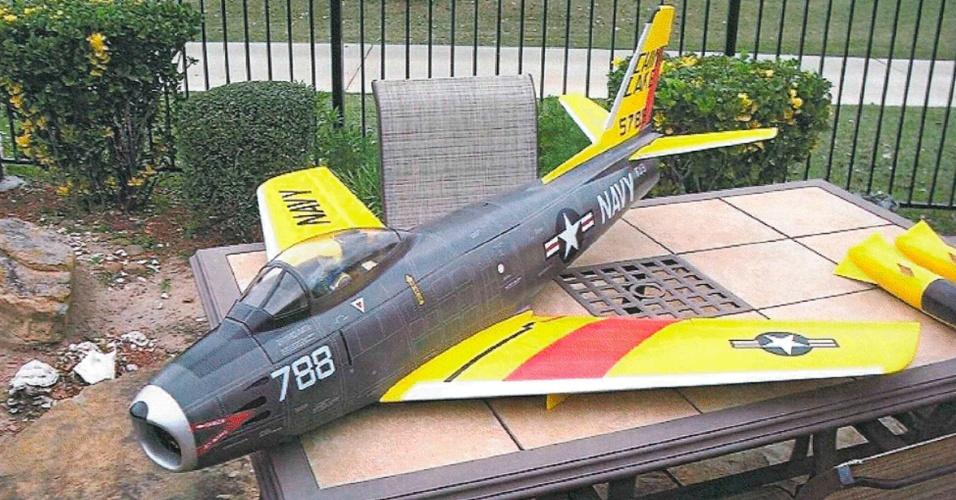 10.jul.2012 - Foto divulgada nesta terça (10) mostra um dos aeromodelos que seriam usados num ataque terrorista contra o Capitólio dos Estados Unidos, em Washington