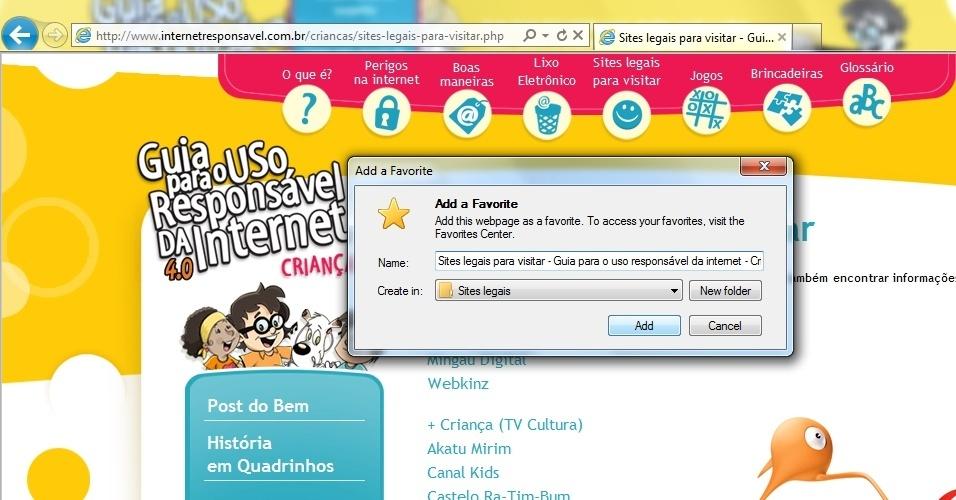Dicas de segurança para crianças navegarem na internet