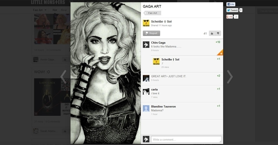 Little Monsters rede social lady gaga capa