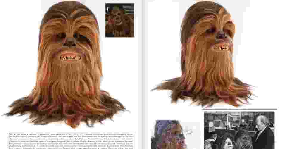 Essa cabeça de Chewbacca usada no filme original da saga pode enfeitar sua sala pela bagatela de US$ 60 a US$ 80 mil - Reprodução/Profiles in History