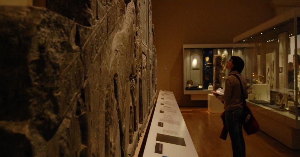 Júlia Rosa no British Museum (museu britânico)