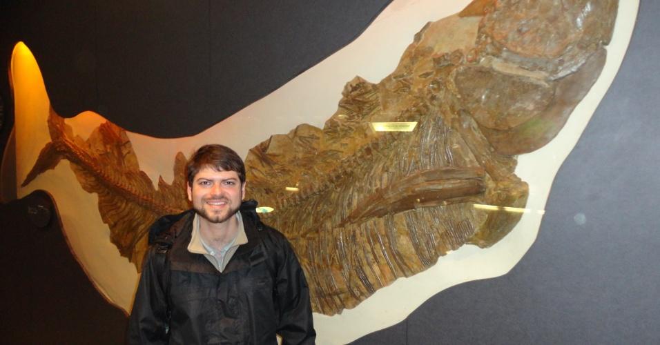 Marcelo Freire Moro no Museu de História Natural, em Londres