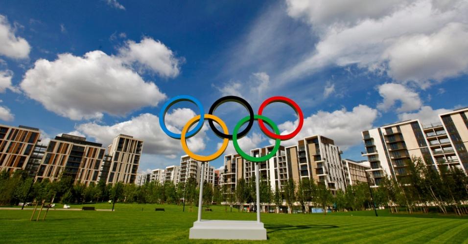 12.jul.2012- Foto divulgada nesta quinta-feira (12) mostra a vista geral da Vila Olímpica de Stratford, onde vão ficar os atletas durante os Jogos Olímpicos de Londres, na Inglaterra