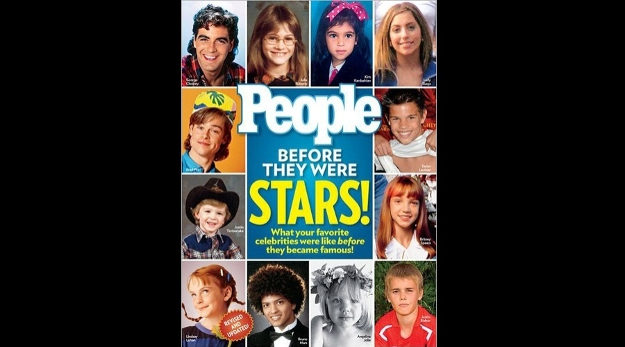 """A capa da nova edição da revista """"People"""" traz imagens de diversas celebridades antes da fama (12/7/12)"""
