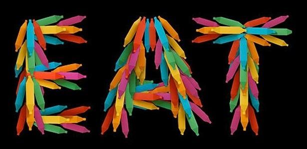 Bananas coloridas serão penduradas no evento Rio Occupation London, que acontece em Londres (12/7/12) - Divulgação/BBC