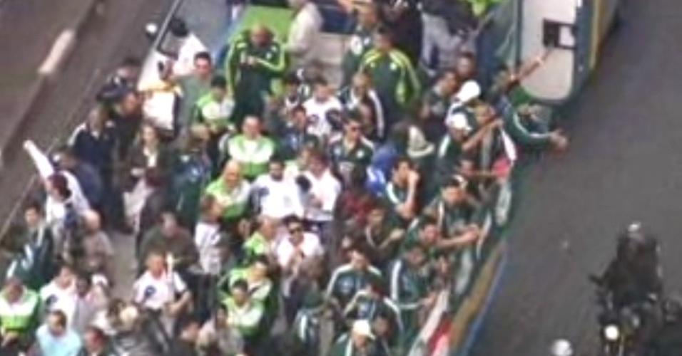 Delegação do Palmeiras desembarcou em São Paulo na manhã desta quinta-feira