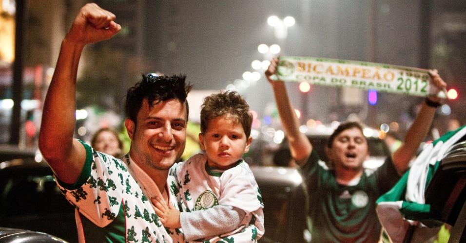 Festa palmeirense invadiu a madrugada em São Paulo