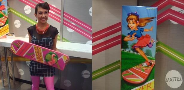 """Garota exibe skate voador """"igual"""" ao do filme """"De Volta para o Futuro 2"""", durante Comic-Con (12/7/12) - Diego Assis/UOL"""