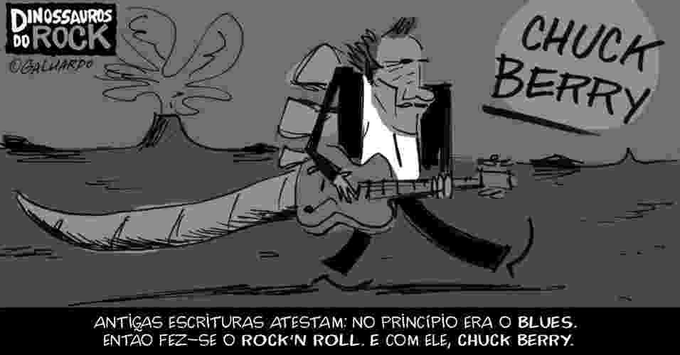 No Dia Mundial do Rock, Caco Galhardo homenageia Dinossauros do Rock, como Chuck Berry - Caco Galhardo