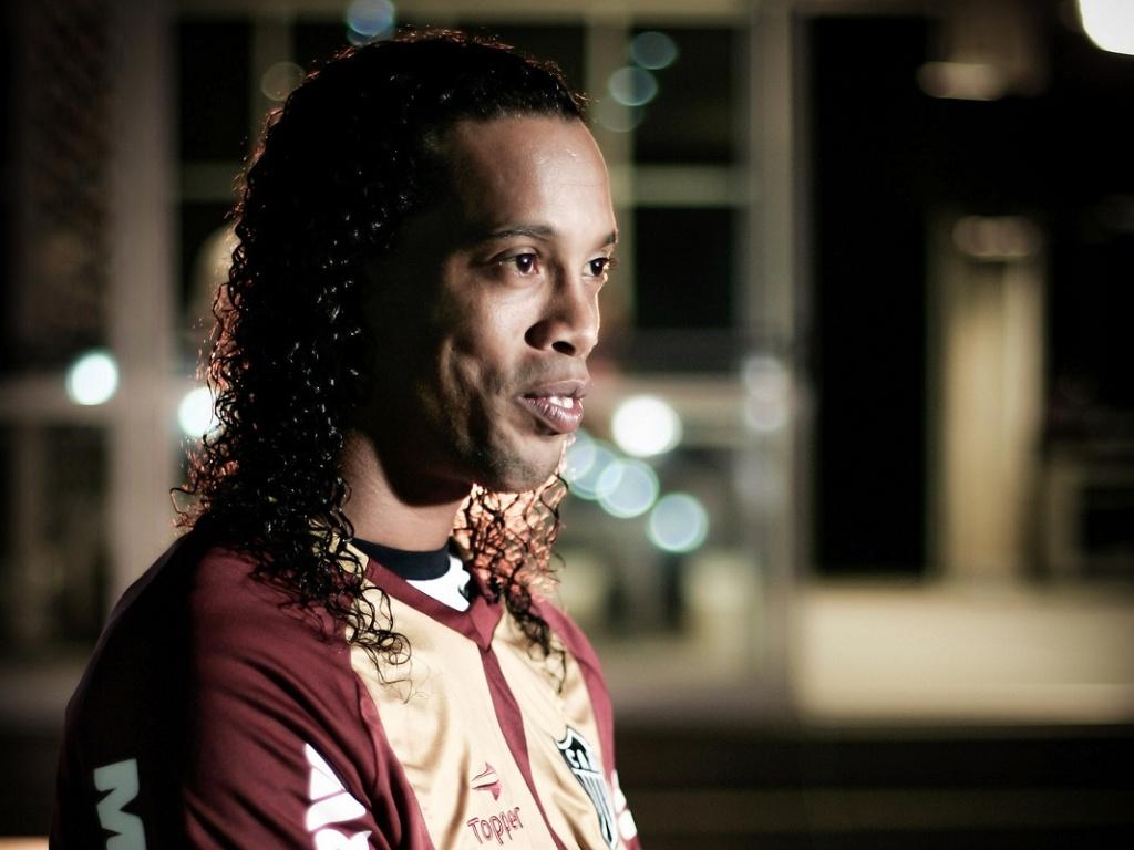 Ronaldinho Gaúcho se diz feliz com o bom momento vivido pelo Atlético-MG (11/7/2012)
