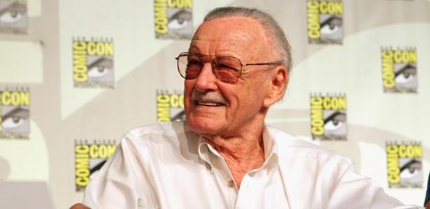 O quadrinista Stan Lee conversa com os fãs na ComicCon, em julho de 2012 - Getty Images