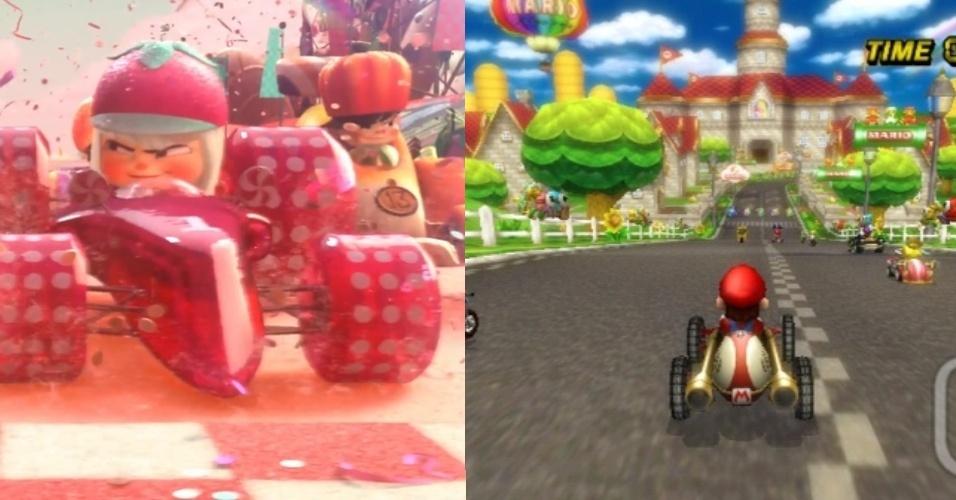 """A corrida com personagens 'fofinhos' lembra jogos como """"Mario Kart"""""""