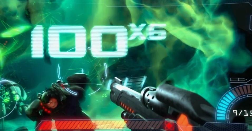 """Em """"Hero's Duty"""", Ralph tenta a sorte em um jogo de tiro com visão primeira pessoa - parecido com """"Call of Duty"""""""