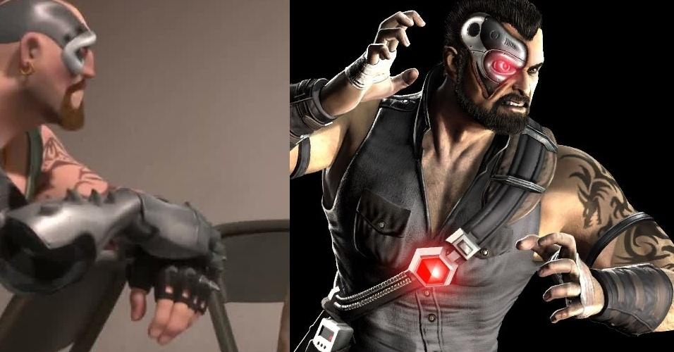 """Lutador de """"Mortal Kombat"""", Kano participa da reunião dos malvados no longa-metragem"""
