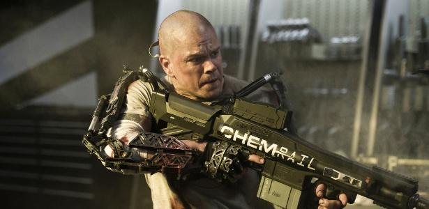 """Matt Damon em cena de """"Elysium"""" - Divulgação"""
