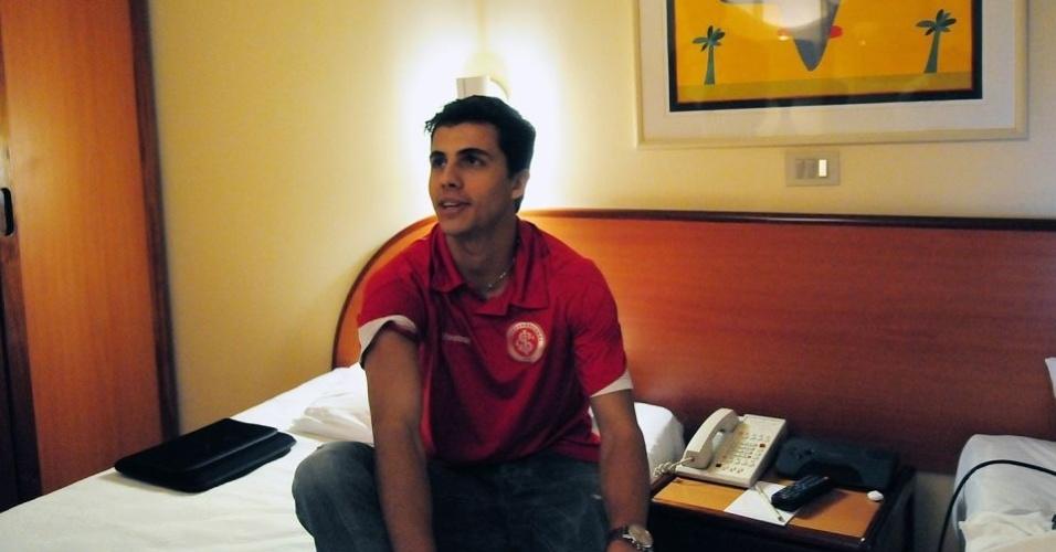 Nilmar durante concentração do Internacional em 2009, dias antes de sua ida para Espanha (arquivo)