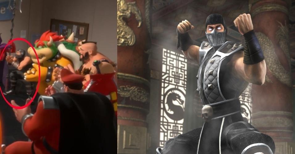 """O ninja cinza usa roupa muito parecida com a de Smoke, de """"Mortal Kombat"""""""