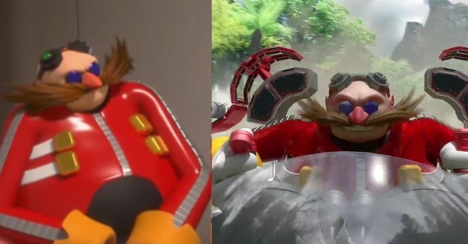 Rival do Sonic, Dr. Eggman é outro que faz suas maldades no desenho