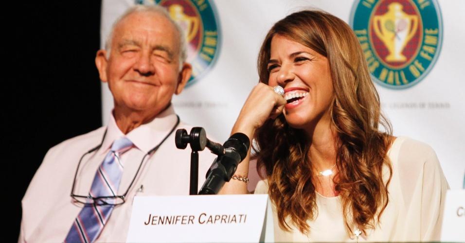 Ex-tenistas Jennifer Capriati (direita) e Mike Davies também serão incluídos no Hall da Fama