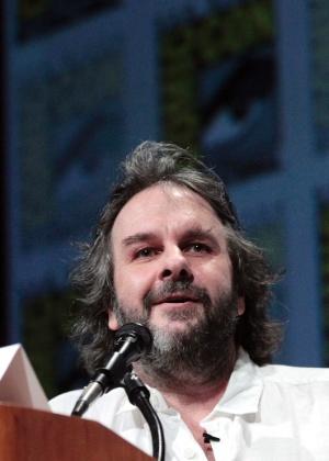 "Os diretor Peter Jackson participa do painel de ""O Hobbit"" na San Diego Comic-Con 2012 (14/7/12) - Mario Anzuoni/Reuters"
