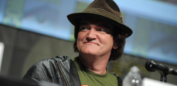 """Quentin Tarantino fala com o público durante painel de seu novo filme, """"Django Livre"""", na Comic-Con 2012, em San Diego (EUA) (14/7/12) - Jordan Strauss/Invision/AP"""