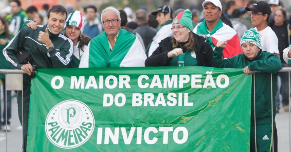 Torcedores do Palmeiras ainda celebram título da Copa do Brasil em clássico contra o São Paulo