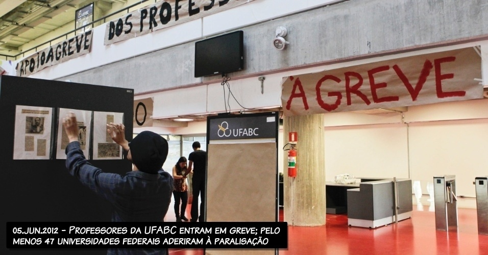 05.jun.2012 - Professores da UFABC entram em greve; pelo menos 47 universidades federais aderiram à paralisação