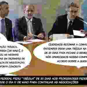"""12.jun.2012 - O governo federal pediu """"trégua"""" de 20 dias aos professores federais que estão em greve desde o dia 17 de maio para continuar as negociações - Antonio Araujo/UOL"""